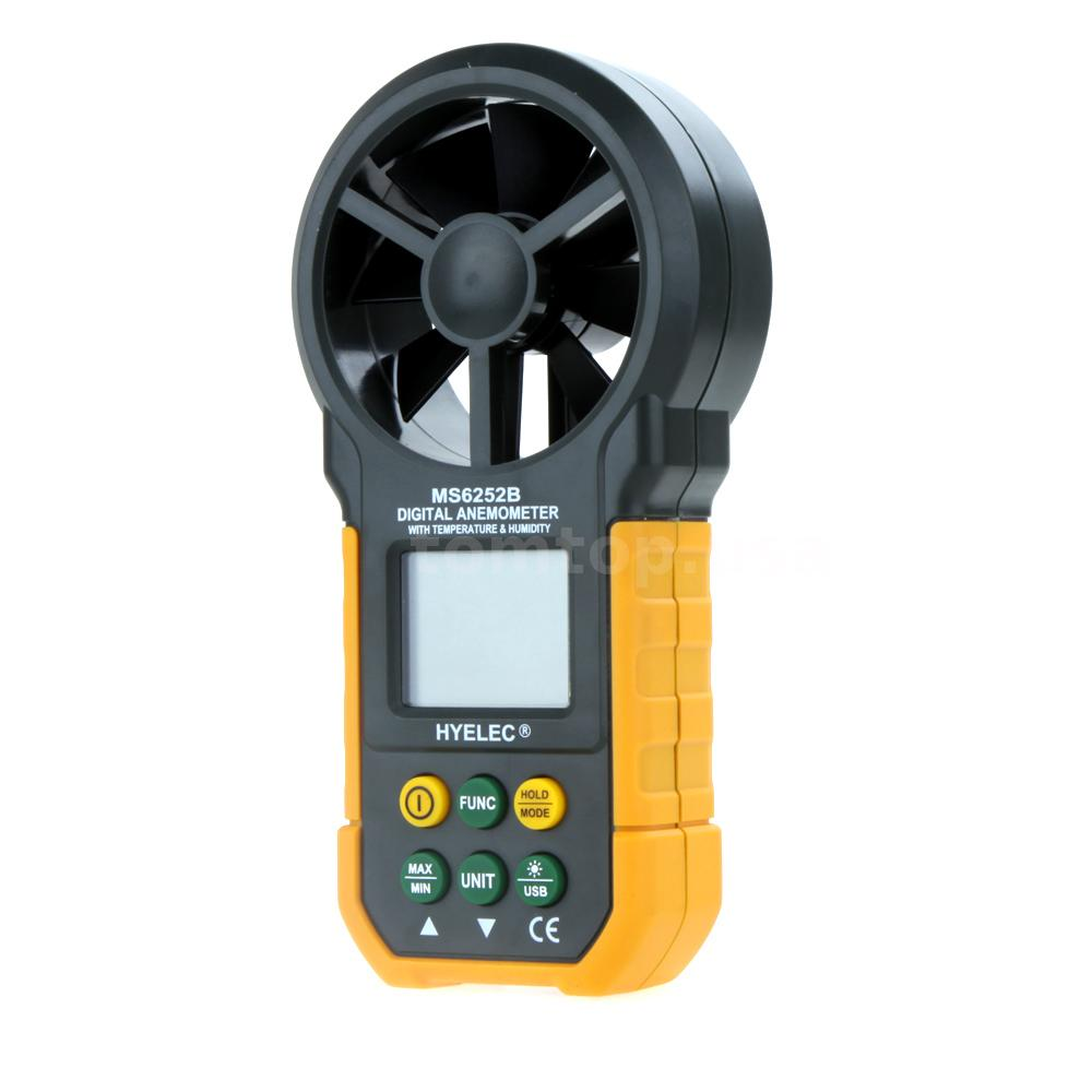 Wind Speed Meter : Digital anemometer air wind speed meter thermometer