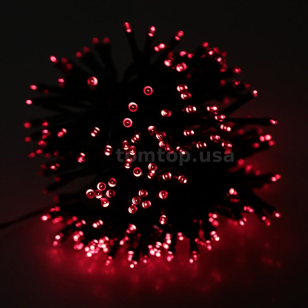 String Of Red Christmas Lights : Red 13M 120LED Solar Christmas String Light Wedding Party Garden Fairy Lights eBay